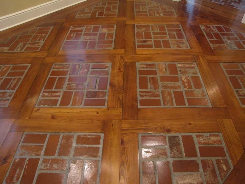 brick tile flooring brick floor tile installation photos acadian brick 28949