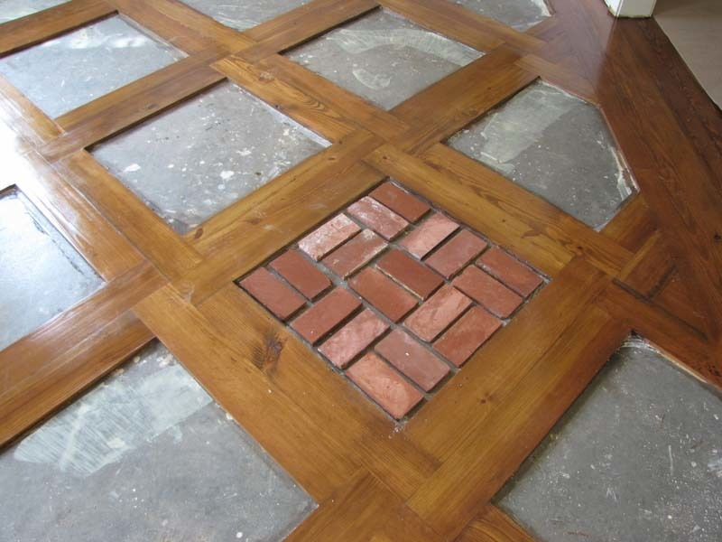 Old St Louis Antique Brick Floor Tile Installation 5