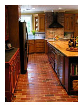 antique brick floor tile