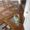 Old St. Louis Antique Brick Floor Tile Installation #8