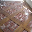 Old St. Louis Antique Brick Floor Tile Installation #9
