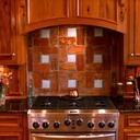 Old St Louis Antique Brick Floor Tile Backsplash