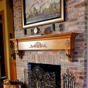 Old St Louis Antique Brick Fireplace